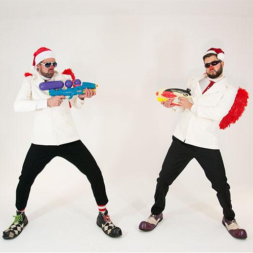 Kerstbengels straattheater kerst inhuren