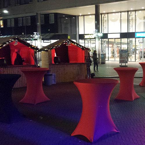 Kerstmarkt Hilversum kersthuisjes verlichting