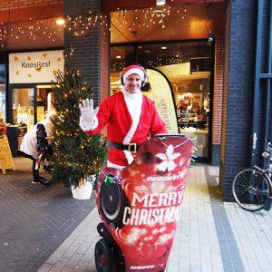 Mobiel Kerst DJ Kerstman