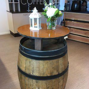 statafel ton wijn hout