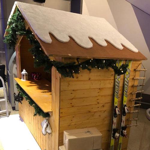 winter houten huisje huren inhuren Sheraton