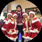 Kerst entertainment activiteiten voor winkelcentrum