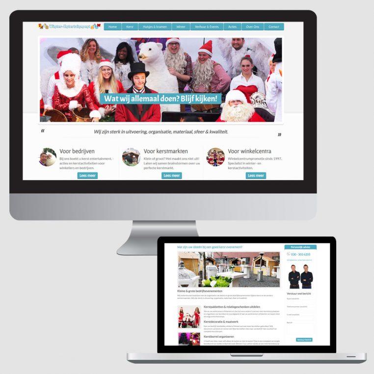 Nieuwe website winter kerst entertainment
