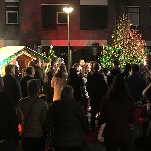Kerstborrel publiek