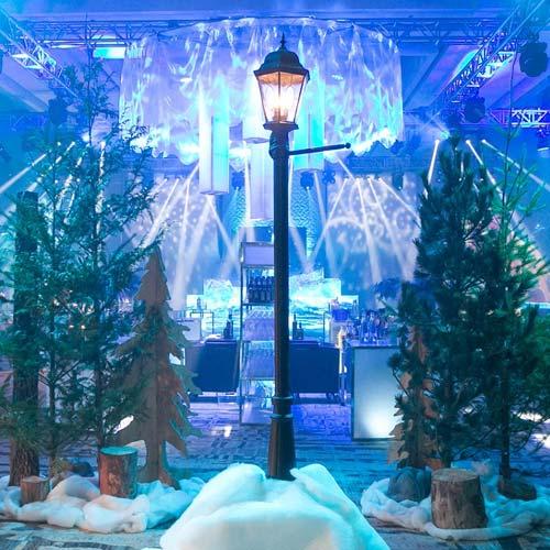 Verlichting kerstmarkt LED lampen