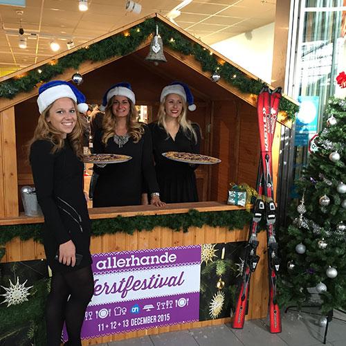 Kersthuisje huren voor kerstactie Albert Heijn