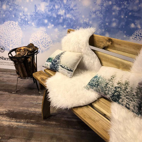Winter Wit Decoratie Sheraton hotel